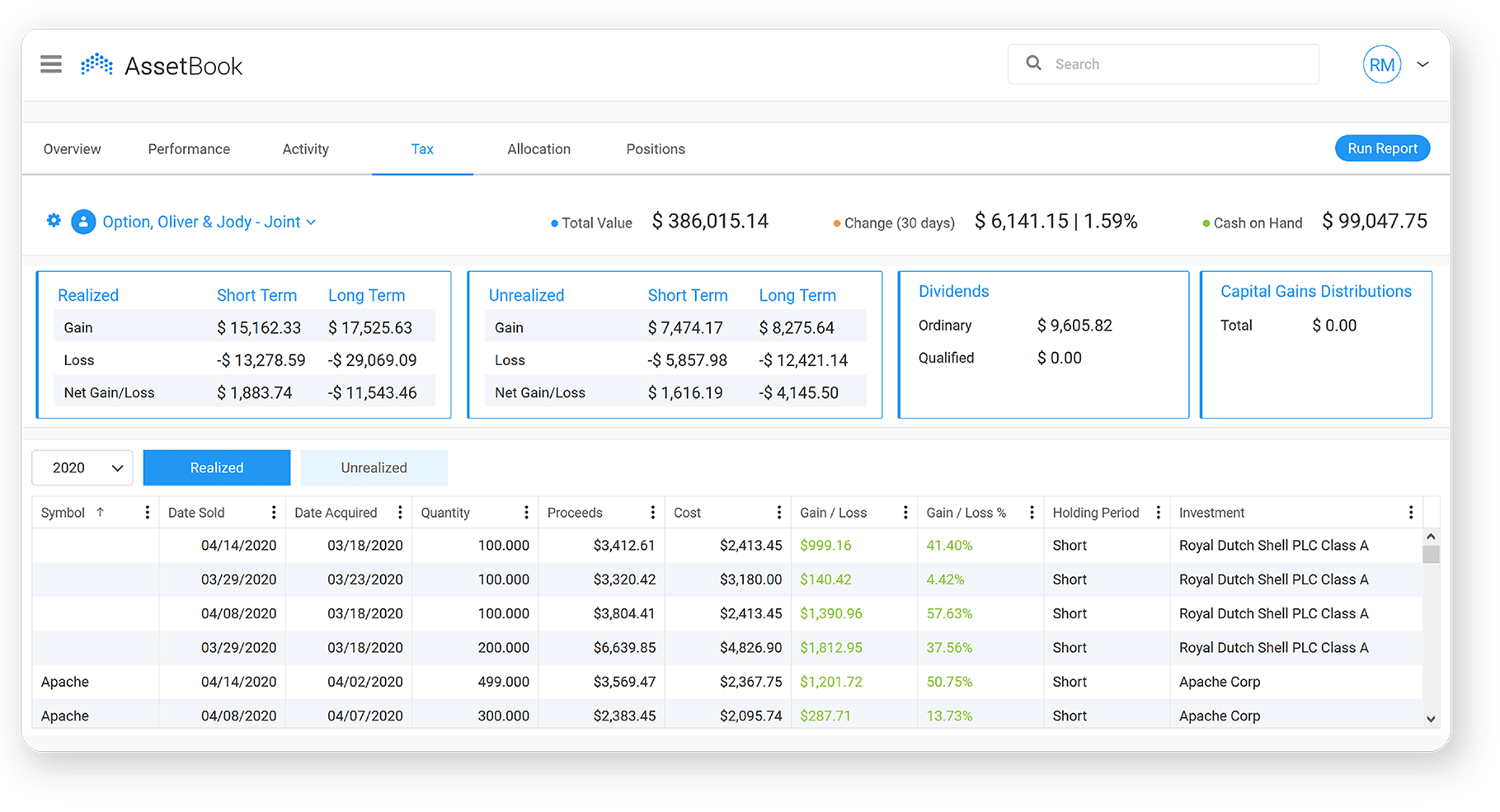 Performance Reporting Advisor Software